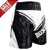 (B-Ware) FIGHT-FIT - Box Shorts / Boxing / Schwarz-Weiss